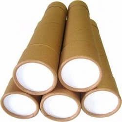 tubos de papelão com tampa
